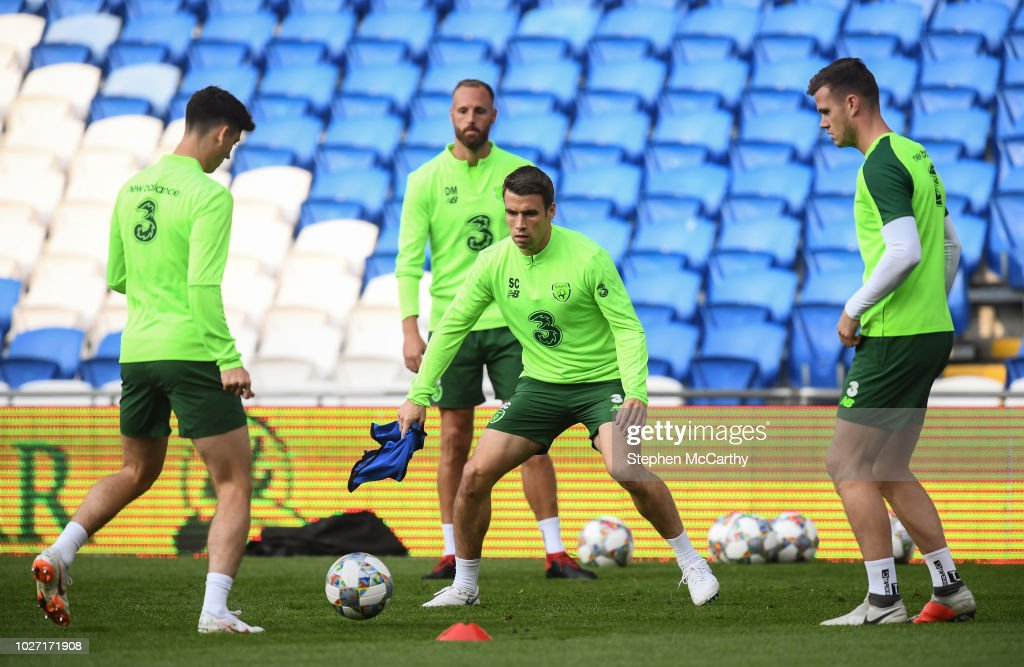 Republic of Ireland Training Session & Press Conference : News Photo