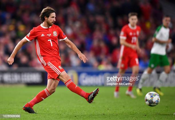 Cardiff United Kingdom 6 September 2018 Joe Allen of Wales during the UEFA Nations League match between Wales and Republic of Ireland at the Cardiff...