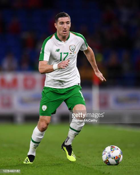 Cardiff United Kingdom 6 September 2018 Stephen Ward of Republic of Ireland during the UEFA Nations League match between Wales and Republic of...