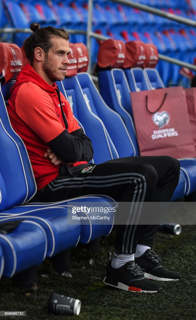 Cardiff , United Kingdom - 8 October 2017; Gareth Bale of Wales during squad training at Cardiff City Stadium in Cardiff, Wales.