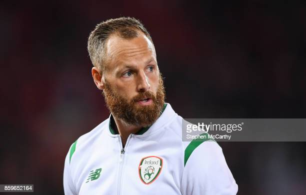Cardiff United Kingdom 9 October 2017 David Meyler of Republic of Ireland during the FIFA World Cup Qualifier Group D match between Wales and...