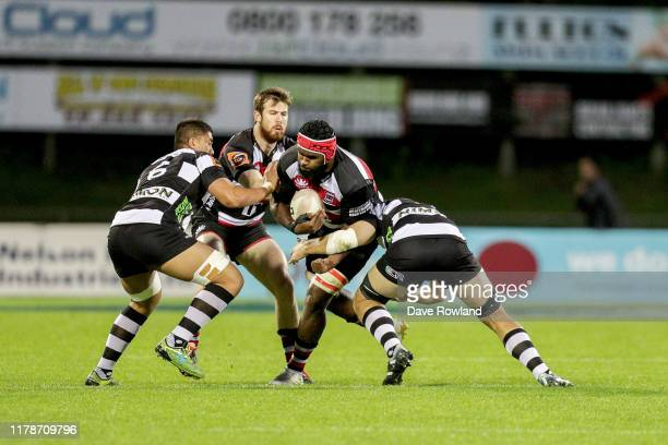 Cardiff Vaega of Counties Manukau during the round 9 Mitre 10 Cup match between Counties Manukau and Hawke's Bay at Navigation Homes Stadium on...