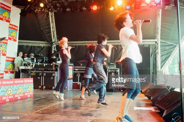 Cardiff's Big Weekend Summer Festival Cardiff Wales 8th August 1998 B*Witched music group performing on stage