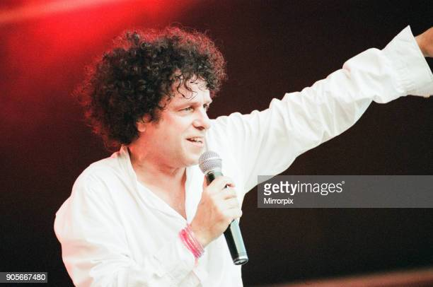 Cardiff's Big Weekend Summer Festival Cardiff Wales 8th August 1998 Leo Sayer singer on stage