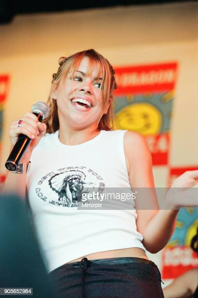 Cardiff's Big Weekend Summer Festival Cardiff Wales 9th August 1998 Billie Piper singer on stage