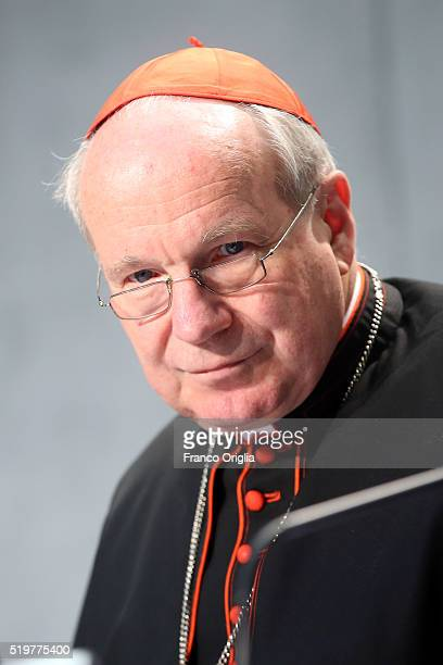 Cardinal Christoph Schonborn during the presentation of Pope Francis' post-synodal Apostolic Exhortation 'Amoris Laetitia' or 'The Joy of Love' at...