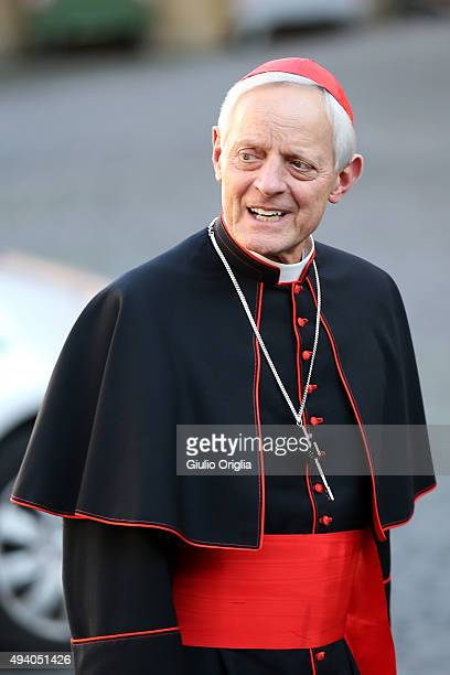 Cardinal Donald Wuerl arrives at the closing session of the Synod on the themes of family the at Synod Hall on October 24 2015 in Vatican City...