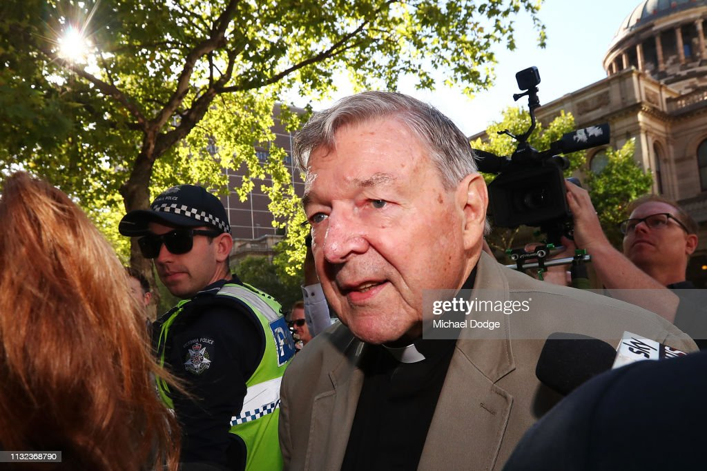 Cardinal George Pell Attends Court For Sentencing On Historical Child Abuse Charges : News Photo