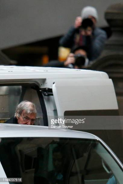 Cardinal George Pell arrives at the Supreme Court of Victoria on August 21 2019 in Melbourne Australia Cardinal George Pell will find out if his...