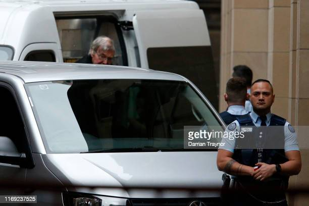 Cardinal George Pell arrives at the Supreme Court of Victoria on August 21, 2019 in Melbourne, Australia. Cardinal George Pell will find out if his...