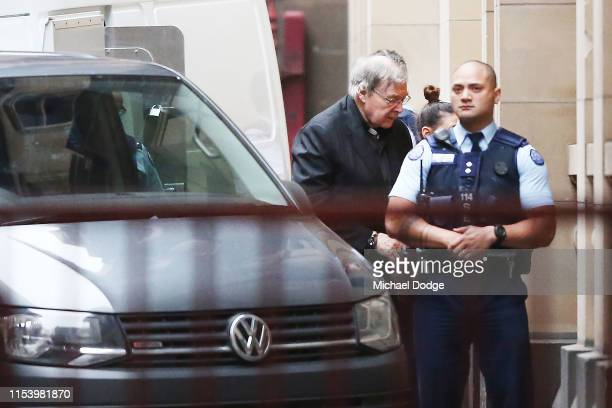 Cardinal George Pell arrives at the Supreme Court of Victoria on June 06, 2019 in Melbourne, Australia. George Pell has served three months of a six...