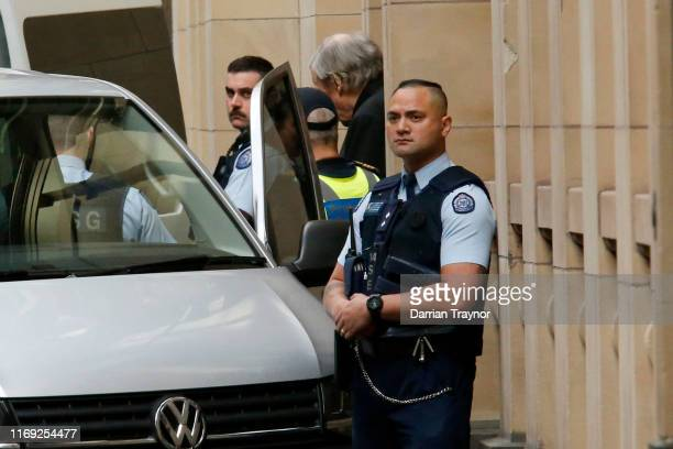 Cardinal George Pell is taken away from the Supreme Court of Victoria on August 21 2019 in Melbourne Australia Cardinal George Pell will find out if...