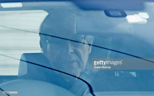 Cardinal George Pell leaves Barwon Prison on April 07 2020 in Geelong Australia Cardinal George Pell is set to be released from prison after the...