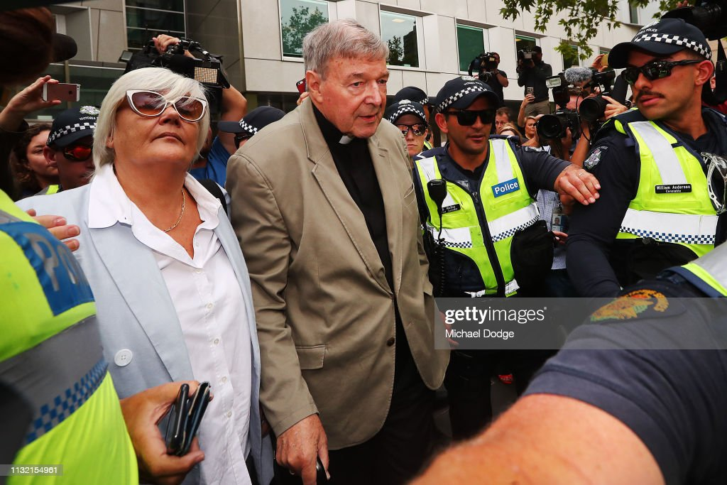 Cardinal George Pell Attends Court After Being Found Guilty Of Child Sexual Abuse : News Photo