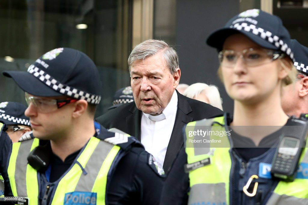 Cardinal George Pell Attends Court As Date Is Set For Historical Sexual Offences Trial : News Photo