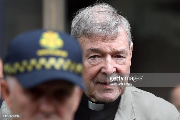 Cardinal George Pell leaves the County Court of Victoria court after prosecutors decided not to proceed with a second trial on alleged historical...