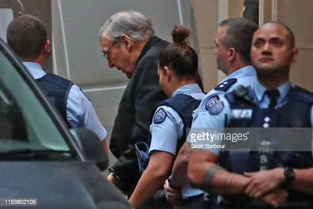 Cardinal George Pell leaves the Supreme Court of Victoria on June 05 2019 in Melbourne Australia George Pell has served three months of a six year...