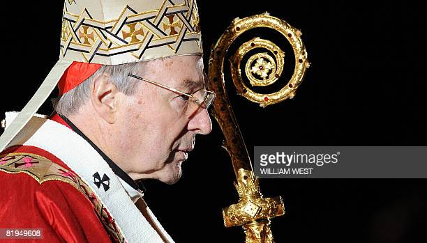 Cardinal George Pell officiates the opening mass of World Youth Day in Sydney on July 15 2008 The world's biggest Christian festival opened July 15...