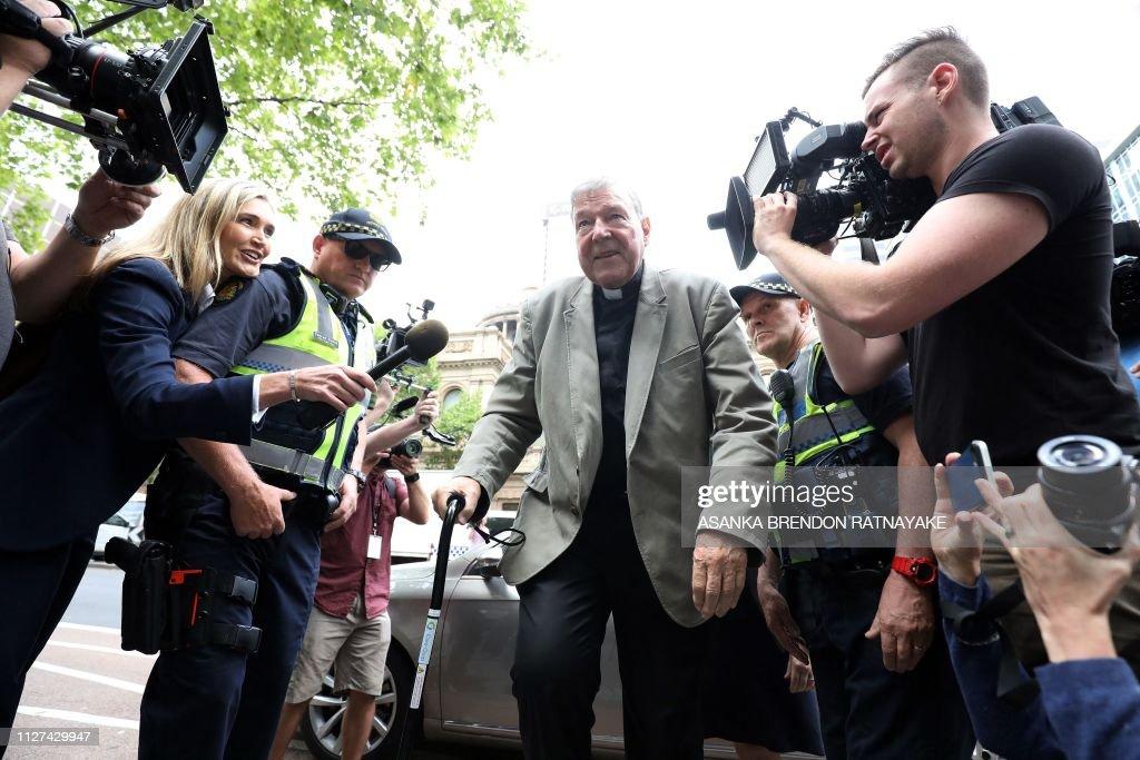 TOPSHOT-AUSTRALIA-RELIGION-VATICAN-PELL : News Photo