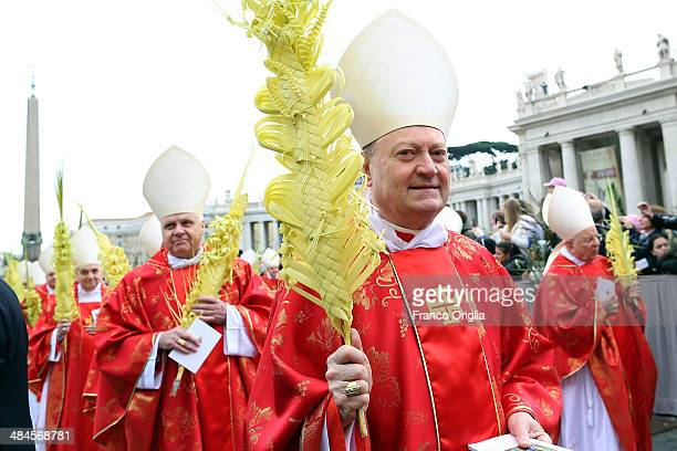 Cardinal Gianfranco Ravasi attends Palm Sunday Mass celebrated by Pope Francis at St Peter's Square on April 13 2014 in Vatican City Vatican Palm...