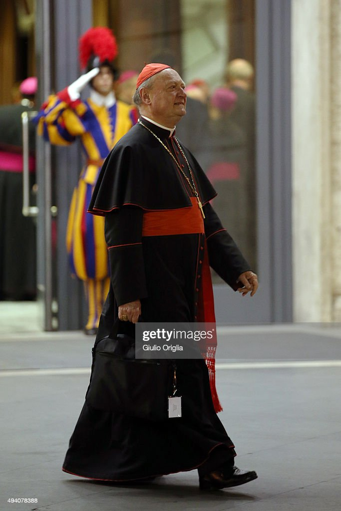 Cardinal Gianfranco Ravasi leaves the closing session of the Synod on the themes of family the at Synod Hall on October 24, 2015 in Vatican City, Vatican. The final document has been welcomed by most as a carefully crafted work of art which seeks to balance the very different views and cultural perspectives of all Synod participants.