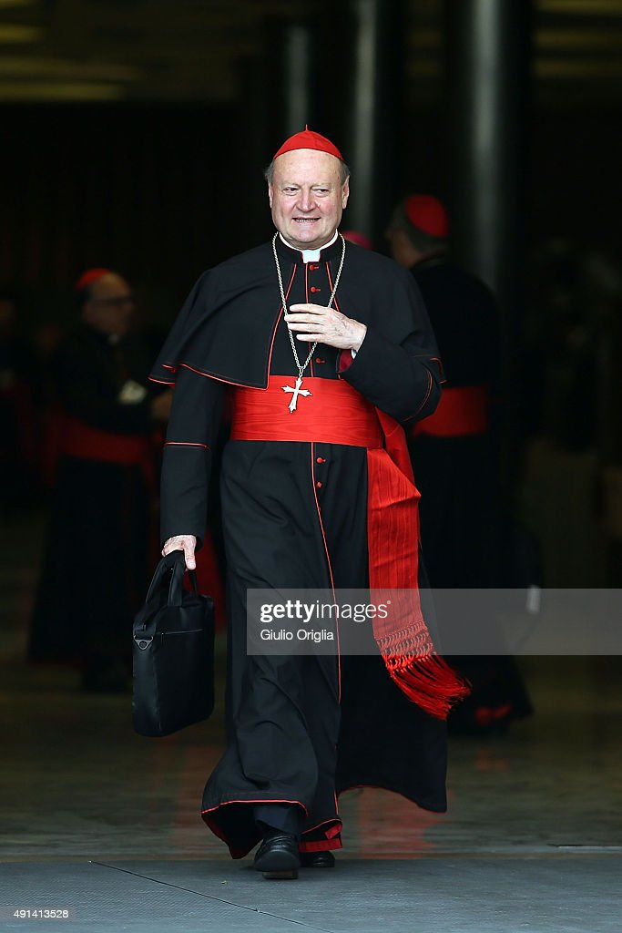 Cardinal Gianfranco Ravasi leaves the opening session of the Synod on the themes of family at Synod Hall on October 5, 2015 in Vatican City, Vatican. The main themes of this Synod of Bishops are 'The vocation and mission of the family in the Church and the contemporary world'.