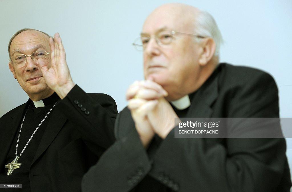 Cardinal Godfried Danneels And Namur Bishop Andre-Mutien