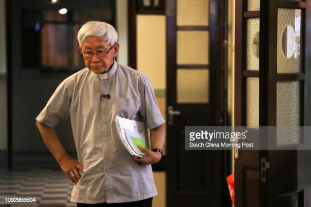 Cardinal Joseph Zen Ze-kiun talks on China-Vatican relations at Salesian House of Studies in Chai Wan. 19JUN17 SCMP / Nora Tam