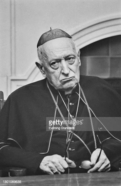 Cardinal Jozsef Mindszenty , Archbishop of Esztergom, and leader of the Catholic Church in Hungary, UK, 18th July 1973.
