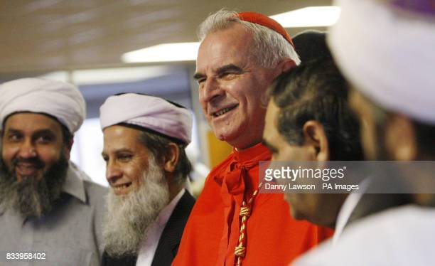 Cardinal Keith O'Brien during a visit to Annandale Street Mosque and Islamic Community Centre for the first time