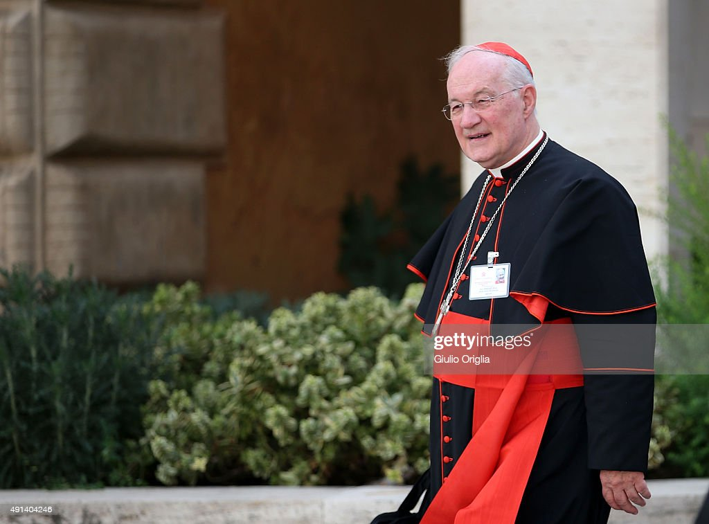 Cardinal Marc Ouellet leaves the opening session of the Synod on the themes of family at Synod Hall on October 5, 2015 in Vatican City, Vatican. The main themes of this Synod of Bishops are 'The vocation and mission of the family in the Church and the contemporary world'.