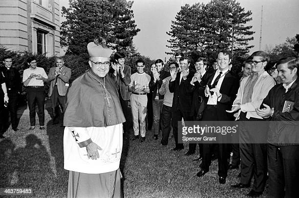 Cardinal Medeiros and wellwishers at his installation Brighton Massachusetts 1970