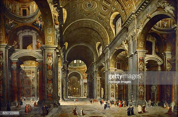 Cardinal Melchior de Polignac Visiting the Basilica of Saint Peter in Rome Found in the collection of Louvre Paris