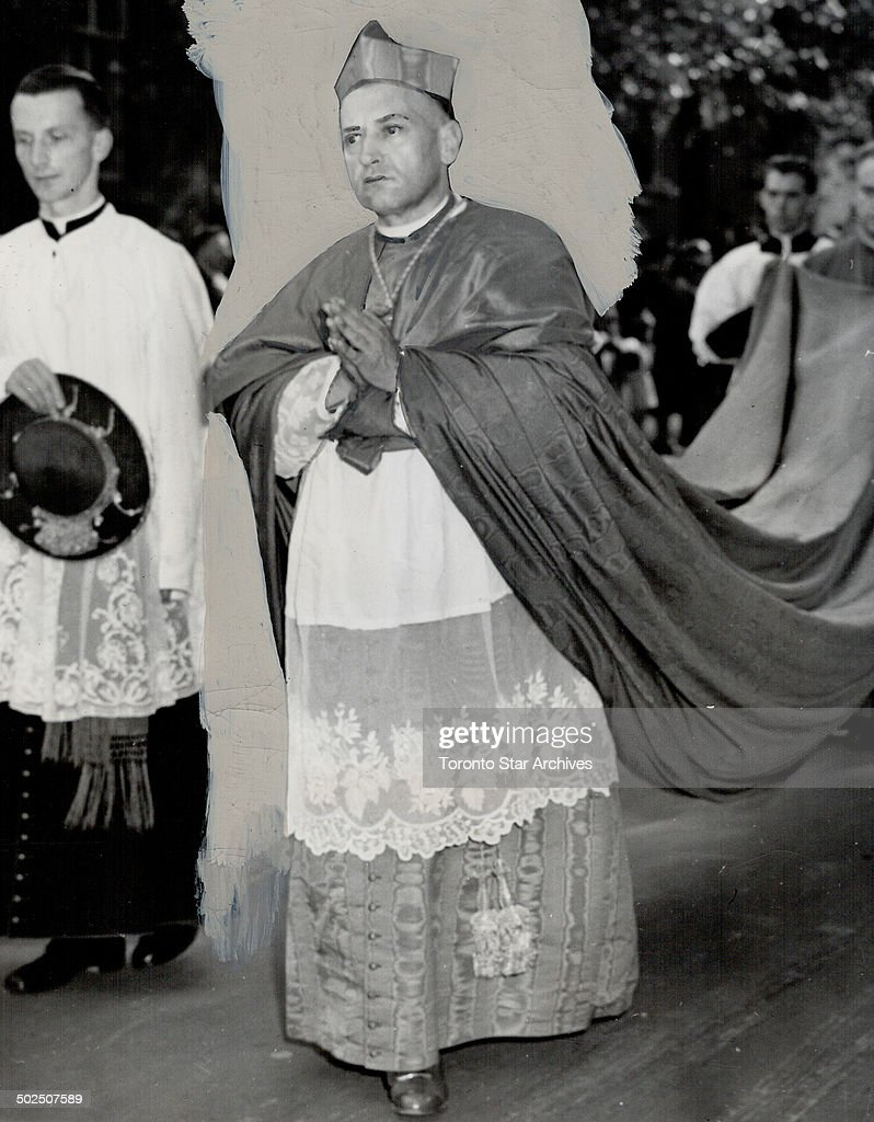 Cardinal Mindszenty. At Marian Congress in Ottawa