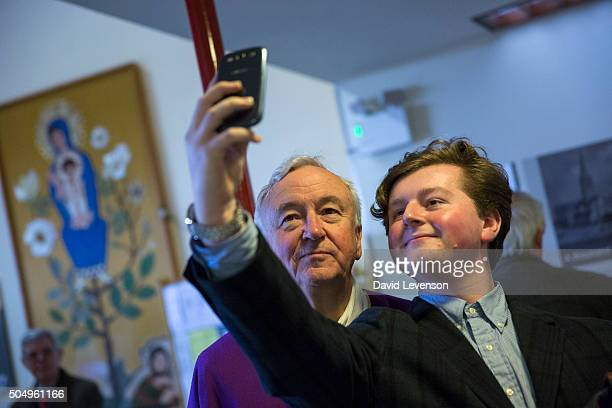 Cardinal Nichols poses for a selfie after Mass at Liverpool Cathedral in March 2014 on his first visit back to his hometown since becoming a Cardina...