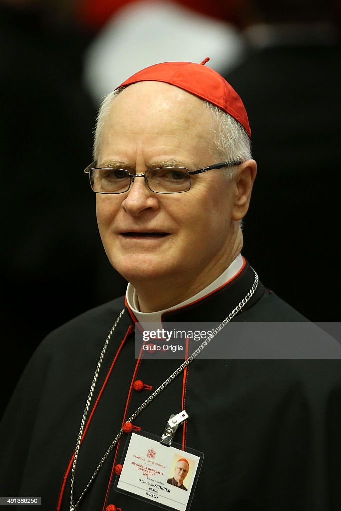 Cardinal Odilo Pedro Scherer attends the opening session of the Synod on the themes of family at Synod Hall on October 5, 2015 in Vatican City, Vatican. The main themes of this Synod of Bishops are 'The vocation and mission of the family in the Church and the contemporary world'.