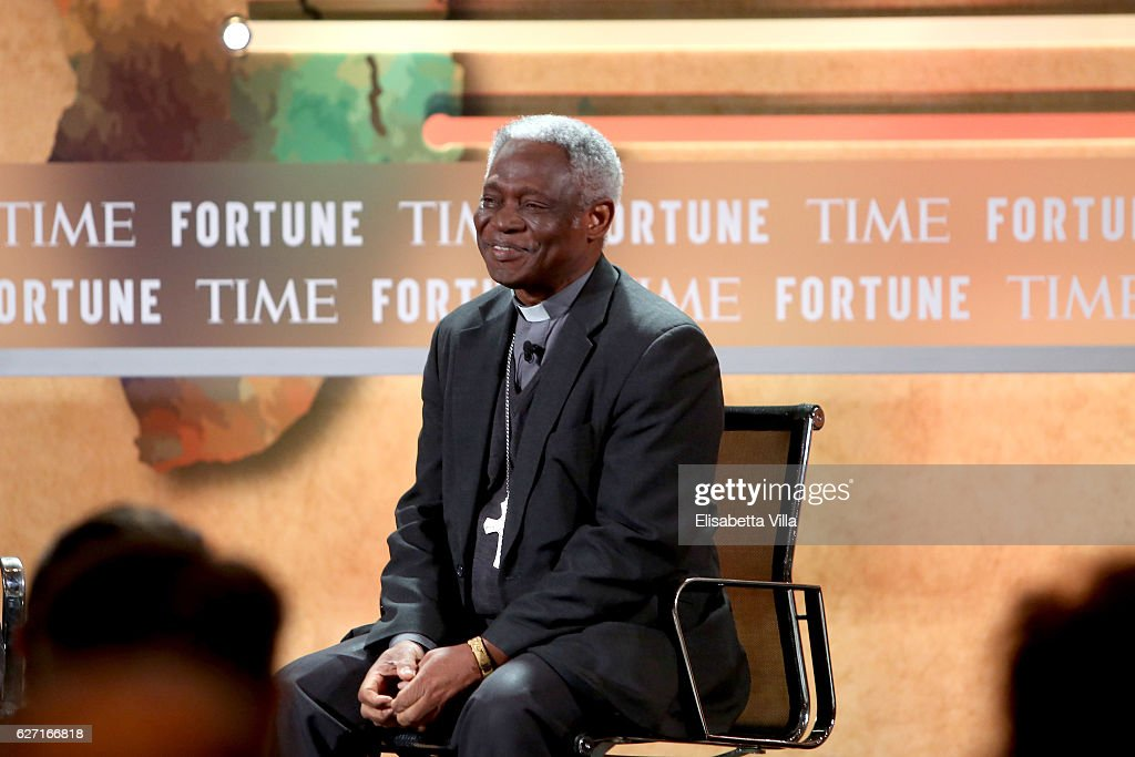Cardinal Peter Turkson, Prefect, Dicastery for Promoting Integral Human Development, speaks at the Fortune + Time Global Forum 2016 on December 2, 2016 in Rome, Italy.
