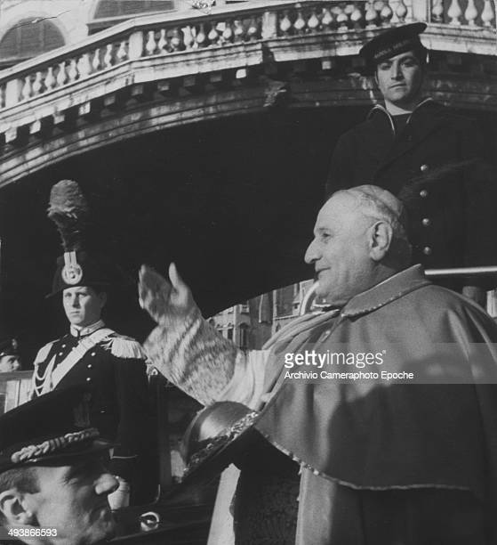 Cardinal Roncalli arrives in Venice March 16 1953