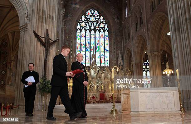 Cardinal Sean Brady Primate of All Ireland and Archbishop arrives to give mass and read out the 'Pastoral Letter of the Holy Father Pope Benedict XVI...