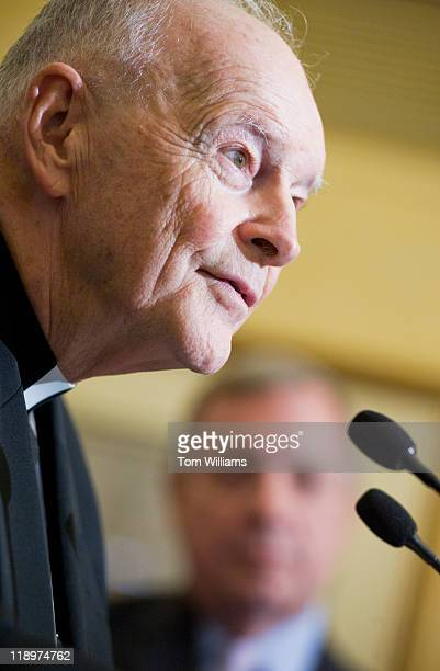 Cardinal Theodore McCarrick, Archbishop Emeritus of Washington D.C., speaks at a news conference to announce the DREAM Act Sabbath, along with Senate...