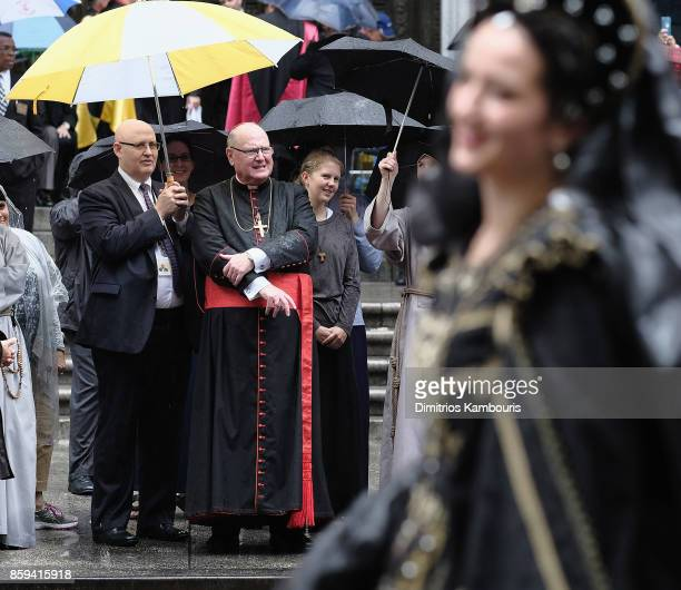 Cardinal Timothy Dolan attends the 2017 Columbus Day Parade on October 9 2017 in New York City