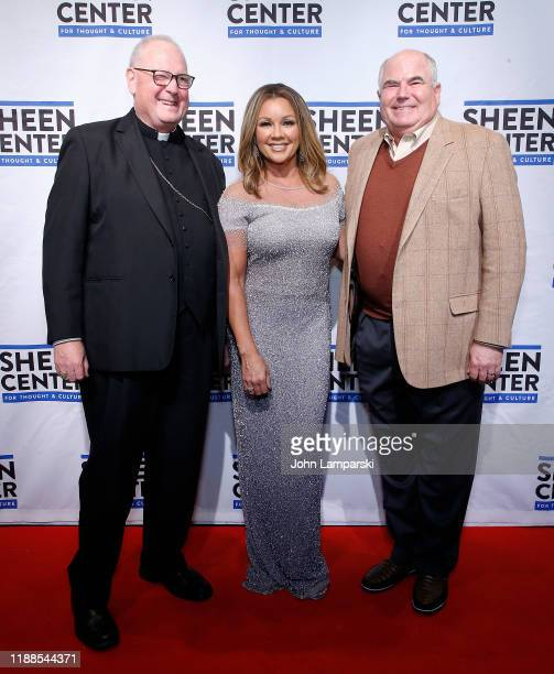 Cardinal Timothy Dolan Vanessa Williams and Steve Columbia attend Sheen Center presents Vanessa Williams Friends thankful for Christmas with guests...