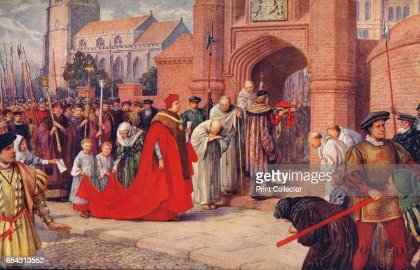Cardinal Wolsey possibly entering Hampton Court Palace 1917 Image printed with Lorilleux Cos trichromatic inks From The British Printer Vol XXIV...