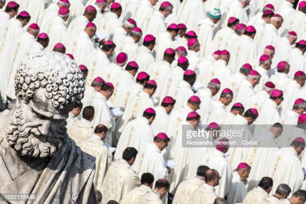 Cardinals and Bishops attend the canonisation ceremony presided by Pope Francis of seven new Saints including Pope Paul VI and Archbishop Oscar...
