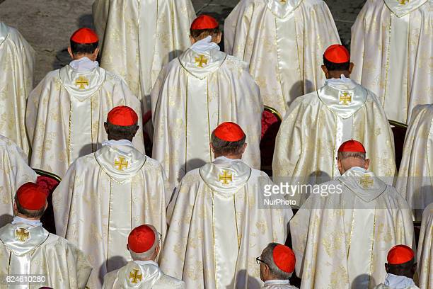 Cardinals attend a Holy Mass celebrated by Pope Francis for the closing of the Jubilee of Mercy in St Peter's Square in Vatican City Vatican on...