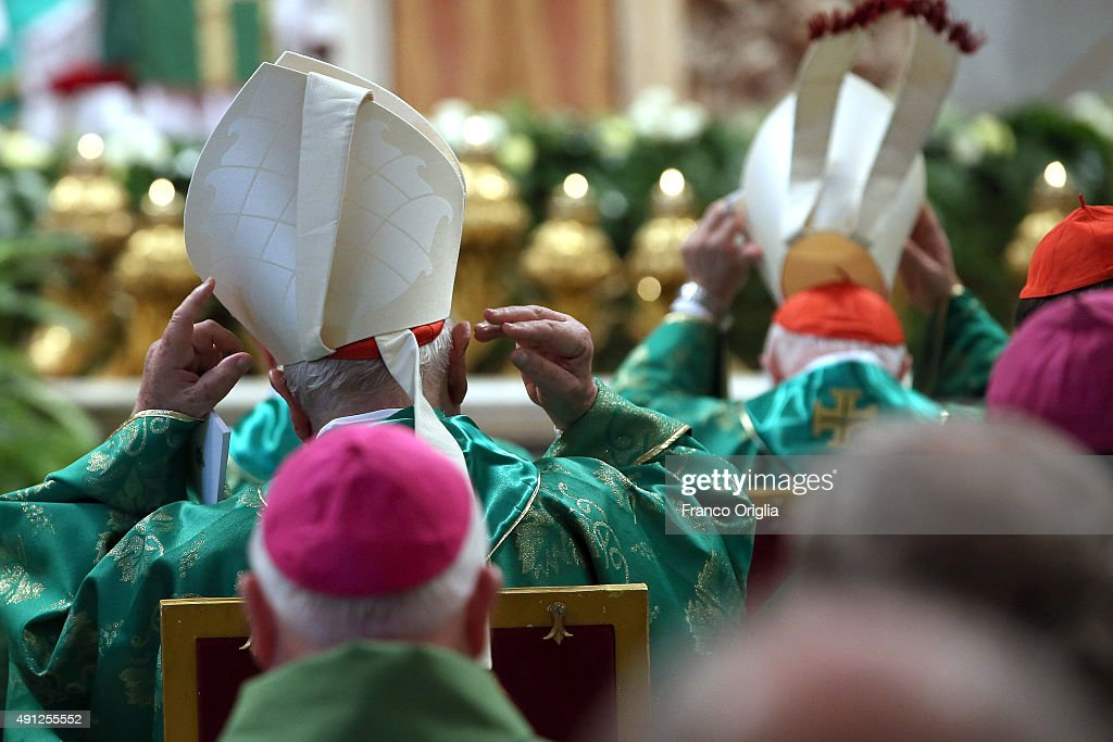 Cardinals attend a mass for the opening of the Synod on the themes of family held by Pope Francis at St. Peter's Basilica on October 4, 2015 in Vatican City, Vatican. The director of the Holy See press office Father Federico Lombardi on Saturday reacting to revelations by a high-ranking Vatican official that he is in a gay relationship said 'the decision to make such a pointed statement on the eve of the opening of the Synod appears very serious and irresponsible, since it aims to subject the Synod assembly to undue media pressure'.