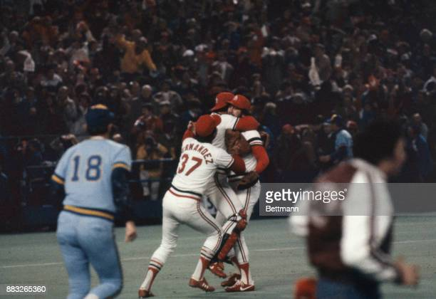 Cardinals celebrate their winning game seven of the World Series and defeating the Milwaukee Brewers for the World Championship