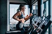 Cardio workout on a treadmill.