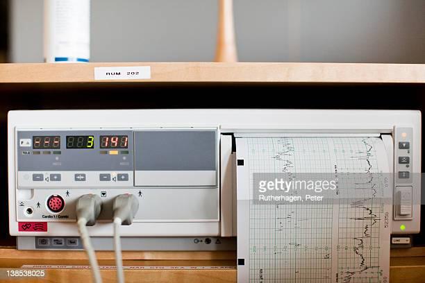Cardiogram machine, close-up