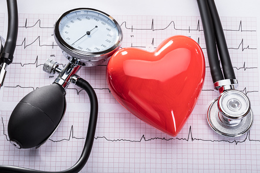 Cardiogram Of Heart Beat And Medical Equipment 859833110